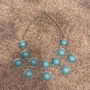 Banana Republic blue bubble necklace